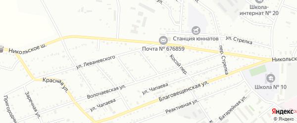 Никольский переулок на карте Белогорска с номерами домов