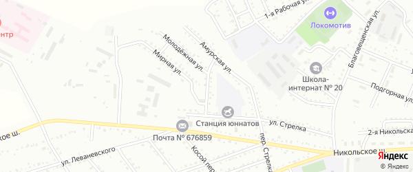 Тихий переулок на карте Белогорска с номерами домов