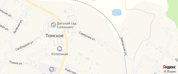 Северная улица на карте Томского села с номерами домов