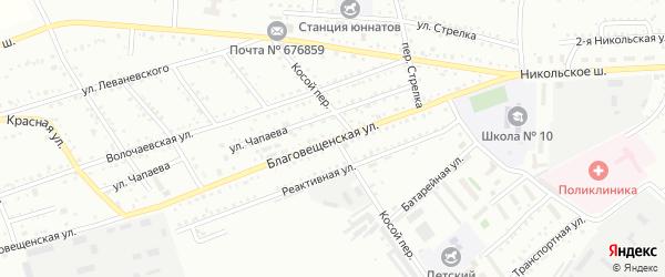 Благовещенская площадка на карте Белогорска с номерами домов