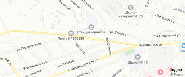 Улица Никольское шоссе на карте Белогорска с номерами домов