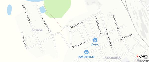 2-й Озерный переулок на карте Белогорска с номерами домов