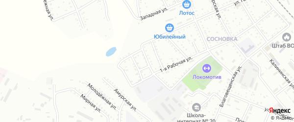 Спортивная улица на карте Белогорска с номерами домов