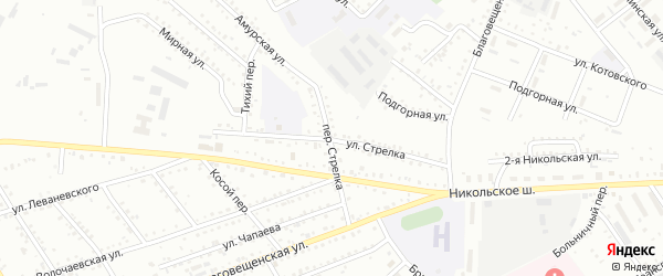 Улица Стрелка на карте Белогорска с номерами домов