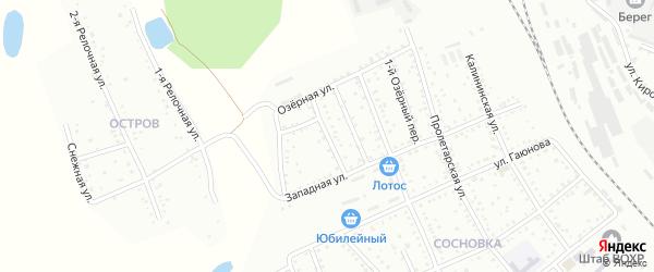 Лесной переулок на карте Белогорска с номерами домов