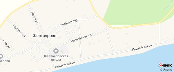 Молодежная улица на карте села Желтоярово с номерами домов