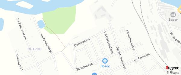 Озерная улица на карте Белогорска с номерами домов