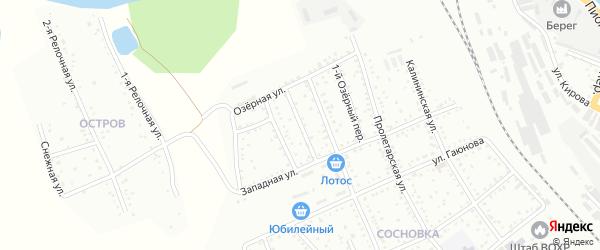 Западный переулок на карте Белогорска с номерами домов