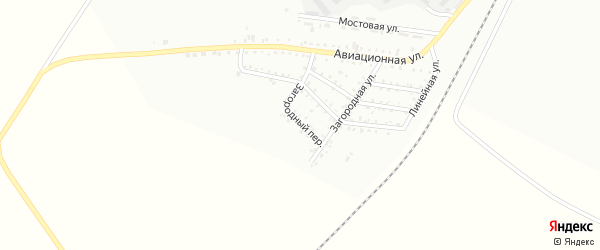 Загородний переулок на карте Белогорска с номерами домов