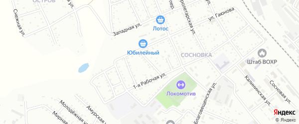 Майский переулок на карте Белогорска с номерами домов