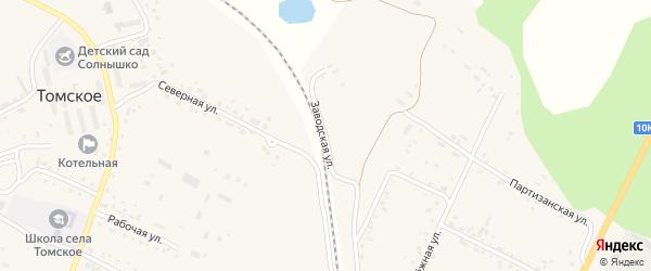 Заводская улица на карте села Бочкаревки с номерами домов