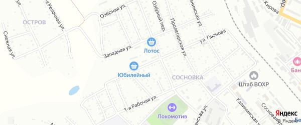Улица Гаюнова на карте Белогорска с номерами домов