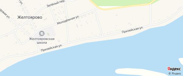 Призейская улица на карте села Желтоярово с номерами домов