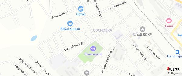 1-я Рабочая улица на карте Белогорска с номерами домов