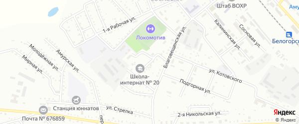 Тупиковый переулок на карте Белогорска с номерами домов