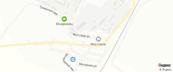Мостовая улица на карте Белогорска с номерами домов