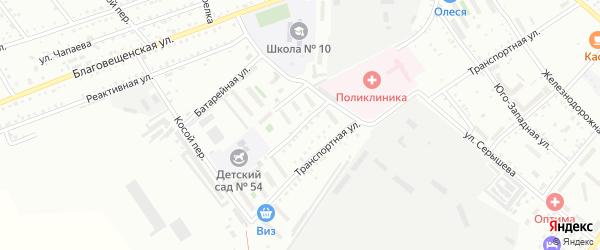 2-я Транспортная улица на карте Белогорска с номерами домов