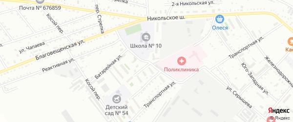 Братская улица на карте Белогорска с номерами домов