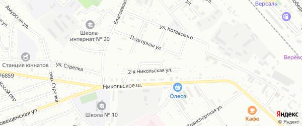 Сигнальный переулок на карте Белогорска с номерами домов