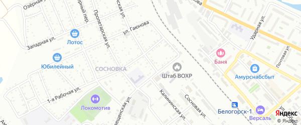 Калининская улица на карте Белогорска с номерами домов