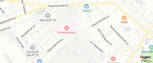 Транспортная улица на карте Белогорска с номерами домов