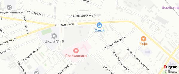 Больничный переулок на карте Белогорска с номерами домов