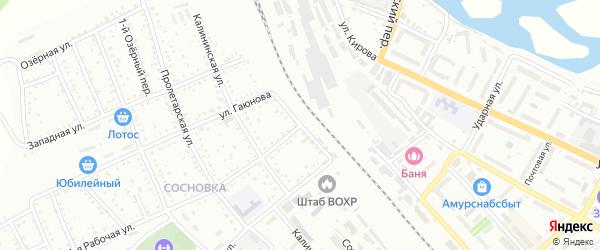 Мухинская улица на карте Белогорска с номерами домов