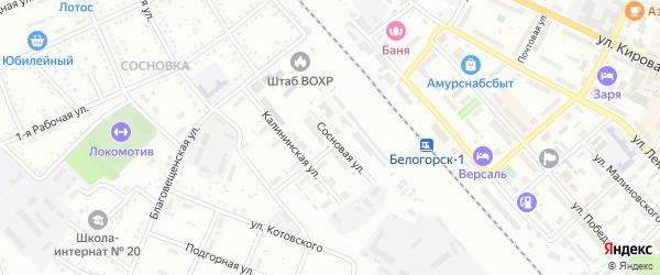 Сосновая улица на карте Белогорска с номерами домов