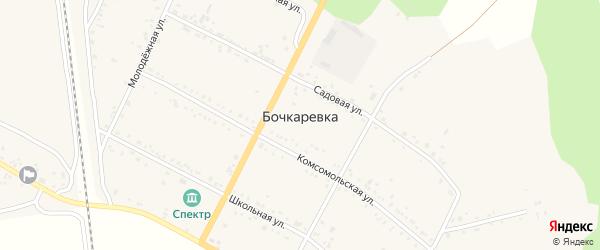 Улица ДОС на карте городка Бочкаревки с номерами домов