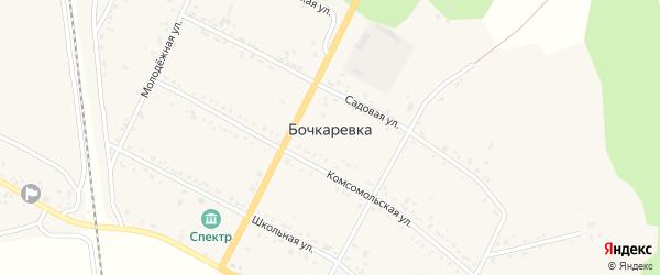 Набережная улица на карте села Бочкаревки с номерами домов