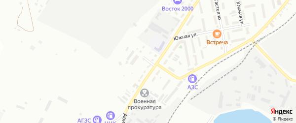 Медицинский переулок на карте Белогорска с номерами домов