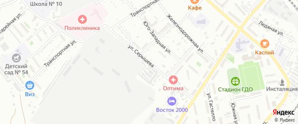 Улица Серышева на карте Белогорска с номерами домов