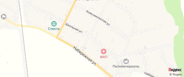 Школьная улица на карте села Бочкаревки с номерами домов