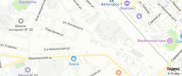 Улица Котовского на карте Белогорска с номерами домов