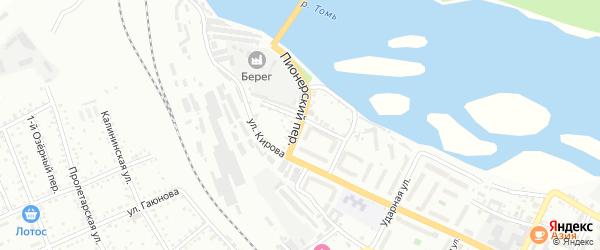 Пионерский переулок на карте Белогорска с номерами домов