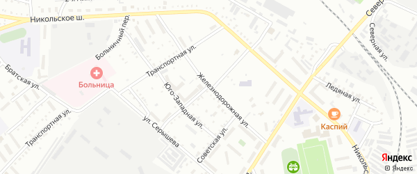 Железнодорожная улица на карте Белогорска с номерами домов