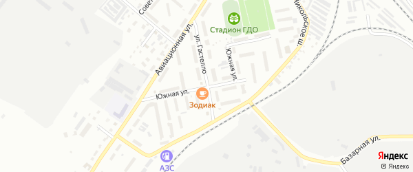 Южная улица на карте Белогорска с номерами домов