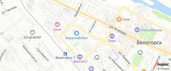 Почтовая улица на карте Белогорска с номерами домов