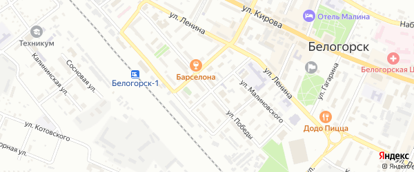 Улица Победы на карте Белогорска с номерами домов