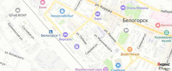 Товарный переулок на карте Белогорска с номерами домов