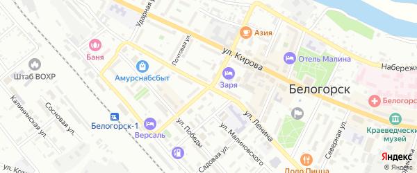 Партизанская улица на карте Белогорска с номерами домов