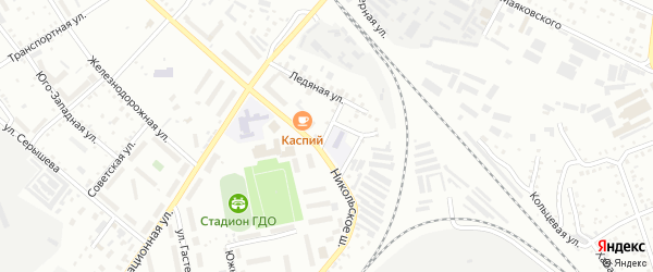 1-й Ледяной переулок на карте Белогорска с номерами домов
