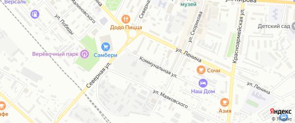 Коммунальная улица на карте Белогорска с номерами домов