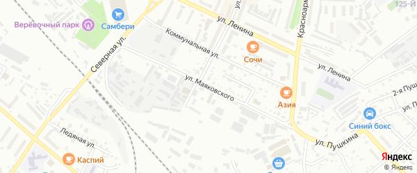 Улица Маяковского на карте Белогорска с номерами домов