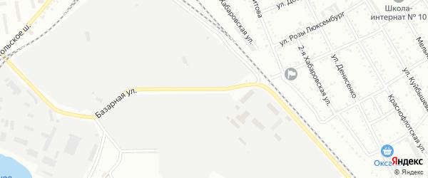 Базарная улица на карте Белогорска с номерами домов