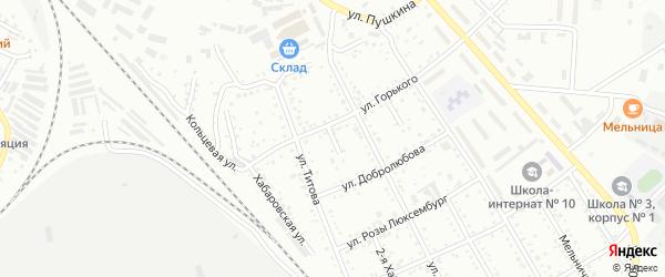 Площадка 1-я Горького на карте Белогорска с номерами домов
