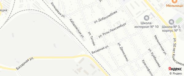 Улица Титова на карте Белогорска с номерами домов