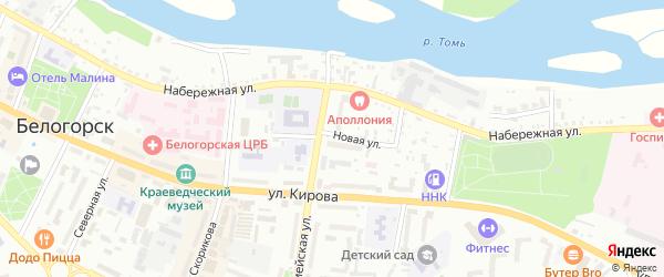 Новая улица на карте Белогорска с номерами домов
