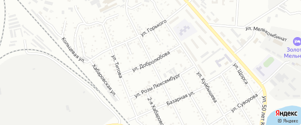 Улица Добролюбова на карте Белогорска с номерами домов