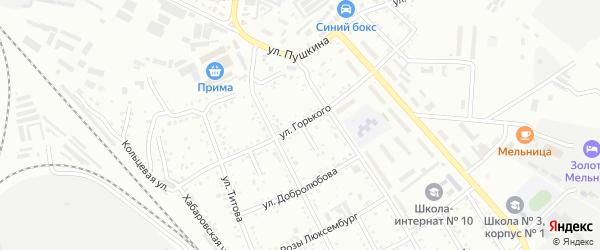 Улица Горького на карте Белогорска с номерами домов